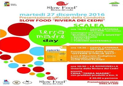 """Scalea: Slow Food """"Riviera dei Cedri"""" festeggia il """"Terra Madre Day"""""""