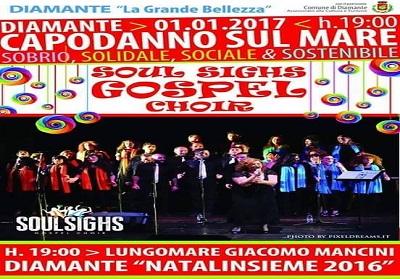 """Diamante: Capodanno sobrio, solidale con il concerto del """"Soul Sighs Gospel Choir"""""""