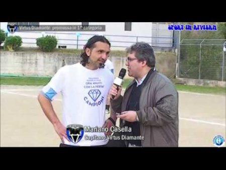 La Virtus Diamante promossa in 1^Categoria- sintesi gara e interviste