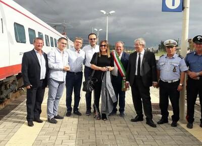 Stazione di Scalea, arriva la Frecciabianca