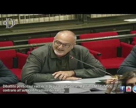 Il Parlamentare On. Misiti (M5S) contrario all'autocertificazione dei vaccini-servizio