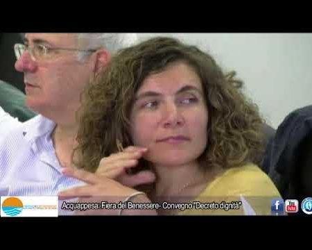 """Acquappesa (Cs): Fiera del Benessere- Camminata Aisla, Convegno """"Decreto dignità""""- interviste"""