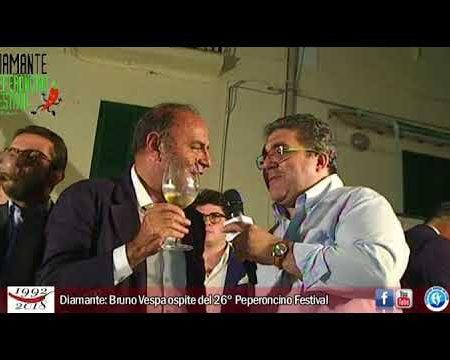 Diamante: Bruno Vespa ospite del 26° Peperoncino Festival-intervista