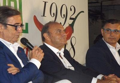 Diamante: Bruno Vespa, ospite al Peperoncino Festival, si è mostrato entusiasta della manifestazione