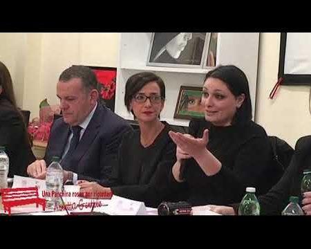 Marcellina: Una panchina rossa in ricordo di Annetta Gentile-convegno-inaugurazione