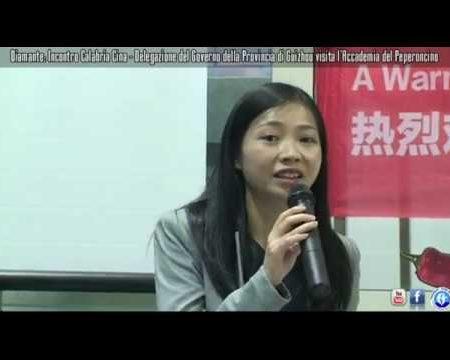 Diamante: Delegazione Cinese in visita all'Accademia del Peperoncino