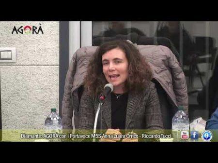 Diamante: AGORÀ con i Portavoce M5S Anna Laura Orrico e Riccardo Tucci