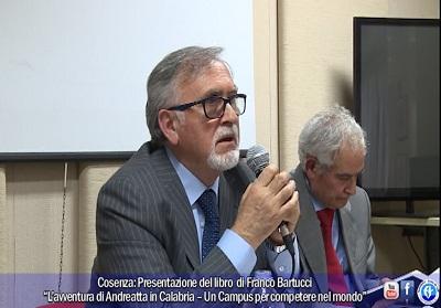"""Cosenza: Presentato il libro di Franco Bartucci """"L'avventura di Andreatta in Calabria"""""""