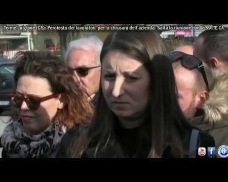 Terme Luigiane: Protesta dei lavoratori, salta la riunione con la S.A.TE.CA.-immagini-interviste