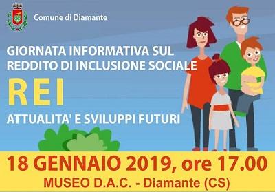 Diamante: Incontro informativo sul Reddito di Inclusione Sociale (REI)