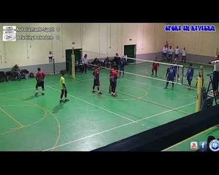 Sport in Riviera-Pallavolo Serie C/M: Asd Diamante Sport- Belvolley Belvedere 2-3