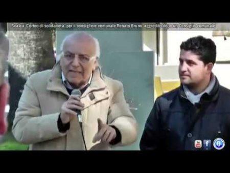 Scalea: Corteo di Solidarieta' per il Consigliere comunale Renato Bruno-servizio