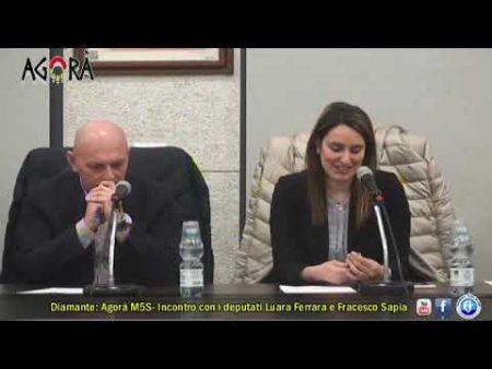 Diamante: Agorà M5S, incontro con i deputati Laura Ferrara e Francesco Sapia