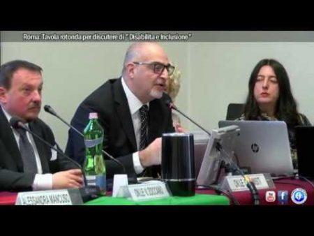 """Roma: Tavola rotonda per discutere di """"Disabilita e Inclusione""""-servizio"""