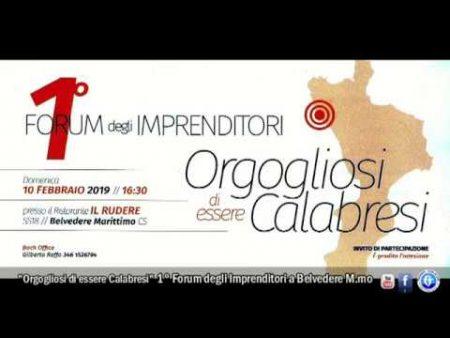 """Incontro con…G.Raffo promotore di """"Orgogliosi di essere Calabresi""""- 1°Forum degli Imprenditori"""