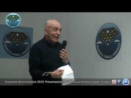 Amministrative Diamante 2019: Inaugurazione sede della lista Ernesto Caselli Sindaco