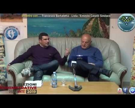 Elezioni Diamante 2019: Incontro con Francesco Bartalotta, Lista Ernesto Caselli Sindaco