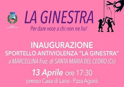 """Santa Maria del Cedro: Inaugurazione nuova sede dello sportello Antiviolenza """"La Ginestra"""""""
