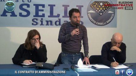 """Diamante: Elezioni 2019- Il Contratto di Amministrazione, Lista """"Ernesto Caselli Sindaco"""""""