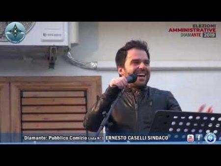 Elezioni Diamante: Comizio a Cirella Lista N°1 Ernesto Caselli Sindaco