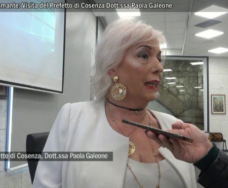 Intervista al Prefetto di Cosenza Paola Galeone in visita a Diamante