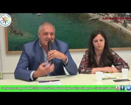 Conferenza stampa di Marcello Pascale candidato a Sindaco Lista Diamante e Cirella #SiamoVoi