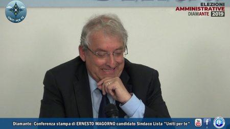 """Diamante: Conferenza stampa Lista """"Uniti per te"""" – Ernesto Magorno Sindaco"""