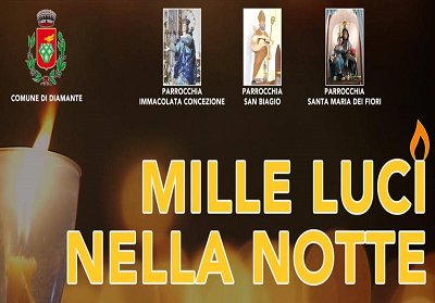 """Diamante: """"Mille luci nella notte"""", una cerimonia in memoria del giovane Francesco Augieri"""