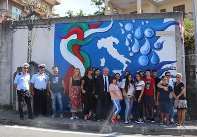 Diamante: Restaurato il Murales del 2011 per celebrare i 150 anni dell'Unita d'Italia.