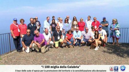 """""""I 100 miglia della Calabria"""" il tour delle auto d'epoca -servizio"""