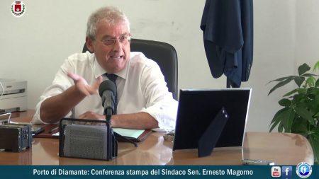 Porto di Diamante: Conferenza stampa del Sindaco Sen.Ernesto Magorno
