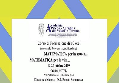 """Diamante: Congresso e Corso formativo, """"Matematica per la scuola…Matematica per la vita"""""""