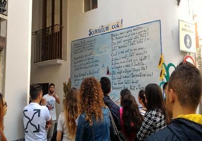 Vista ai Murales per gli alunni dell'IISS di Diamante, in progetto un'applicazione-guida