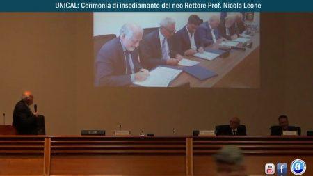 UNICAL: Cerimonia di insediamento del neo Rettore Prof. Nicola Leone