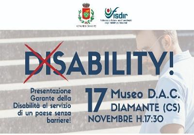 """Diamante: Presentazione del """"Garante per la persona disabile"""""""