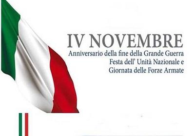 """Lunedì 4 novembre il Comune di Diamante celebra la """"Giornata dell'Unità Nazionale e delle Forze Armate"""""""