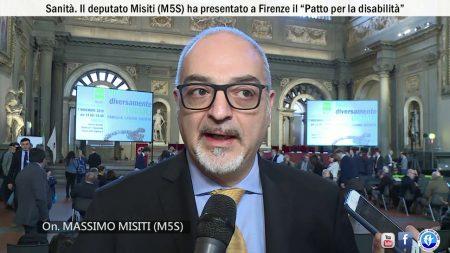 """Sanità. Il deputato Misiti (M5S) ha presentato a Firenze il """"Patto per la disabilità""""-SERVIZIO"""