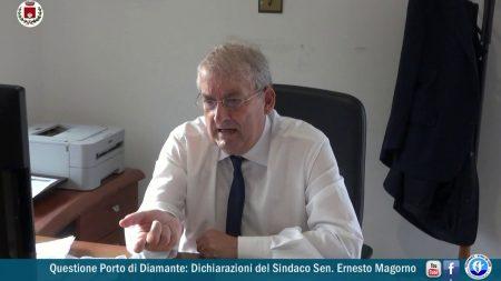 Questione Porto di Diamante: Dichiarazioni del Sindaco Magorno