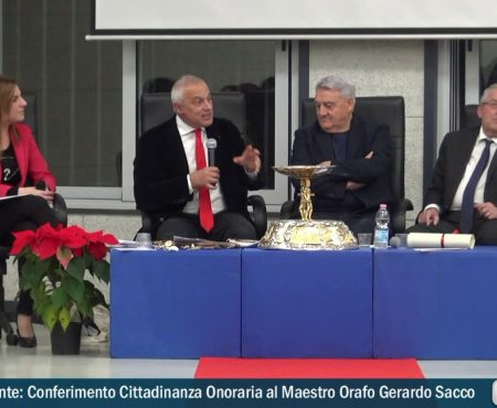 Diamante: Conferimento Cittadinanza onoraria al Maestro orafo Gerardo Sacco