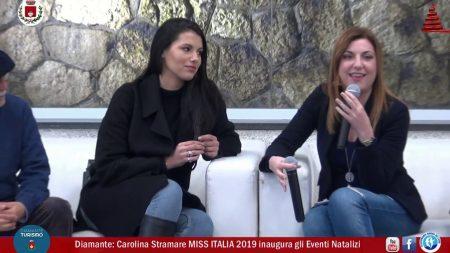 Diamante: Carolina Stamare Miss Italia 2019 inaugura gli eventi natalizi