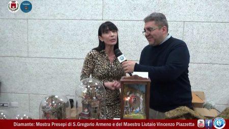 Diamante: Mostra Presepi di San Gregorio Armeno (NA) e del maestro liutaio Vincenzo Piazzetta-servizio