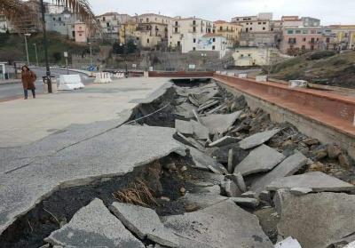 Diamante: Sopralluogo della Protezione Civile per valutare i danni delle ultime mareggiate