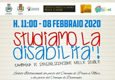 """""""Studiamo la disabilità"""". Parte da Praia a Mare la campagna di sensibilizzazione nelle scuole"""
