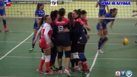 Pallavolo Femminile- Asd Diamante Sport- Spes Praia 0-3 -integrale