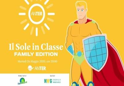 Il Sole in Classe Family Edition. In streaming l'evento di ANTER dedicato all'energie rinnovabili