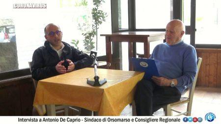 Coronavirus: Intervista ad Antonio De Caprio – Sindaco di Orsomarso e Consigliere regionale