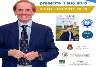 """Diamante: Osvaldo Bevilacqua presenta il suo nuovo libro """"Il Paese dei mille Paesi"""""""