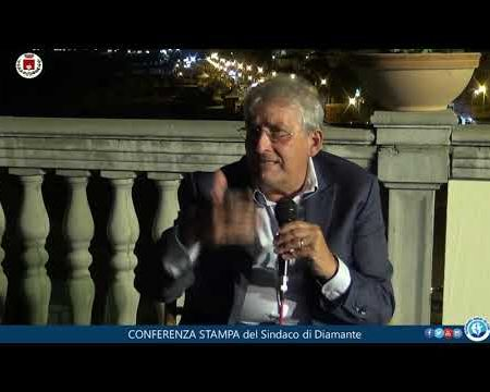 Ordinanza Estate in Sicurezza. Conferenza Stampa del Sindaco di Diamante Sen.Ernesto Magorno