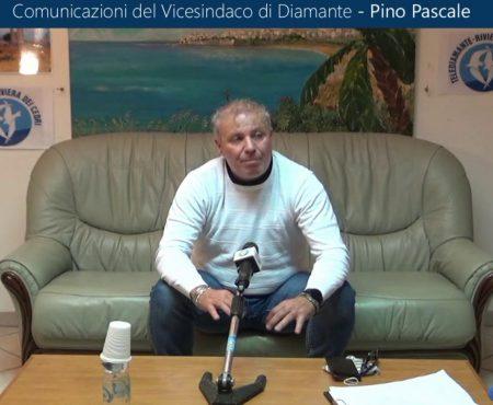 Comunicazioni del Vicesindaco di Diamante Pino Pascale (15/11/2020)