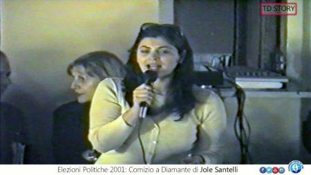 TD Story. Politiche 2001: Comizio a Diamante di Jole Santelli